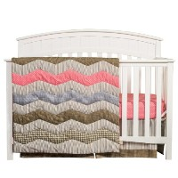 Trend Lab Cocoa Coral 3 Piece Crib Bedding Set, Coral Pink by Trend Lab