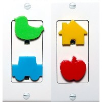 Meille's Baby Safety Secure Outlet Plug Cover - 12 counts by Meille