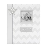 Lil' Peach Chevron Baby Memory Book, Gray by Unknown