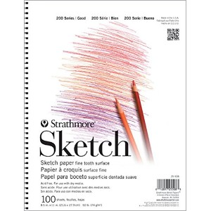 Strathmore ST25-511 200 Series 11 x 14 Wire Bound Sketch Pad by Strathmore