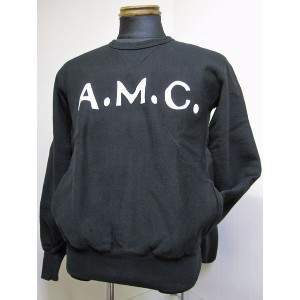 "ウエストライド(WESTRIDE)17FW HEAVY WEIGHT FORNT V SWEAT""A.M.C""-BLK 【送料無料】"