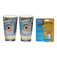 Family Guy Drinkingゲームwith 2つFamily Guy Pint Glasses