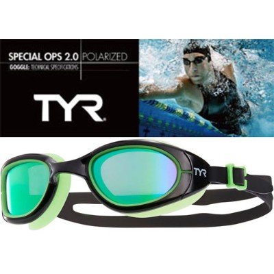 TYR ティア スイムゴーグル 偏光レンズ 【SPECIAL OPS2.0 POLARIZED LGSPL GREEN】