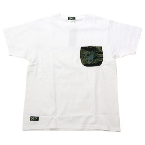 Johnny Bird Daily Wear(ジョニーバードデイリーウェア)CAMO POCKET T-Shirt White Tシャツ