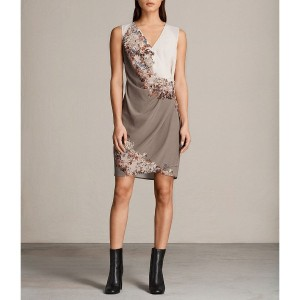 【SALE 49%OFF】ANIKA CLEMENT DRESS (TAUPE GREY)