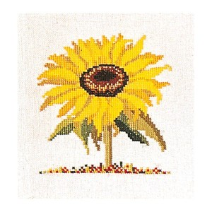Thea Gouverneur クロスステッチ刺繍キットNo.901 「Sunflower」(サンフラワー 向日葵 ひまわり ヒマワリ 花) オランダ テア・グーヴェルヌール 【取り寄せ/納期40...