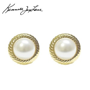 ≪Kenneth Jay Lane≫ ケネス・ジェイ・レーンパール ヴィンテージ イヤークリップ イヤリング Vintage Pearl Earrings (Gold)【レディース】【ギフト...