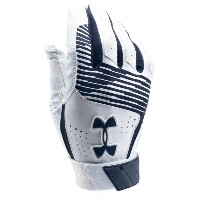 アンダーアーマー メンズ 野球 グローブ【Under Armour Clean-up Batting Gloves】Midnight Navy/White/Midnight Navy