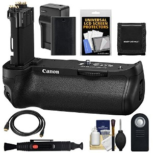 Canon BG-E20 バッテリー Grip for EOS 5D マーク IV デジタル SLR Camera with LP-E6 バッテリー & Charger + Remote +...