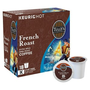 KEURIG K-Cup 【キューリグ用 K-Cup Tully's Coffee タリーズコーヒー フレンチ ロースト 18カップ入り】