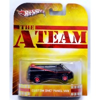"MATTEL HOTWHEELS 1:64 retro entertainment THE A-TEAM ""CUSTOM GMC PANEL VAN"" マテル ホットウィー"