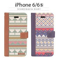 その他 Happymori iPhone6/6S Scandinavia Diary ブラウン ds-1823404