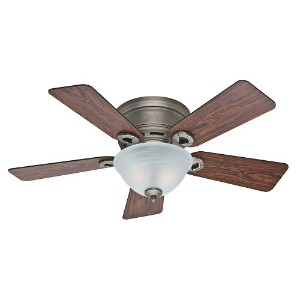 Hunter Fan Company 51024 Conroy 42-Inch Antique Pewter Ceiling Fan with Five Rosewood/Dark Maple...