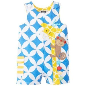 Mud Pie baby-boys新生児Giraffe Shortall by Mud Pie