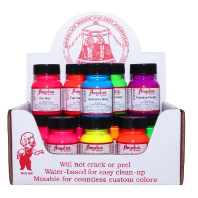 Angelus NEON Acrylic Leather Paint Starter Kit by Angelus