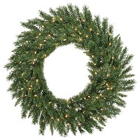 """Vickerman pre-lit Imperial Pine Wreath with 35クリアdura-litライト 36"""" A877337LED"""