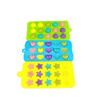 MIREN 3-piece Mini Star, Heart and Shell Shape Silicone Candy Molds, Chocolate Molds, Ice Cube Tray...