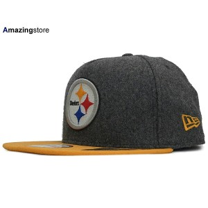 NEW ERA PITTSBURGH STEELERS【2T MELTON A-FRAME STRAPBACK/GREY-GOLD】ニューエラ ピッツバーグ スティーラーズ 9FIFTY...