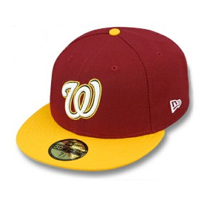 NEW ERA WASHINGTON NATIONALS 【OPPOSITE 2T TEAM-BASIC/BUR-GOLD】 ニューエラ ワシントン ナショナルズ 59FIFTY FITTED...