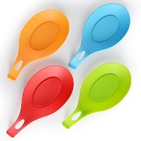 JcHome Silicone spoon rest, set of 4 (Colorful) by JcHome