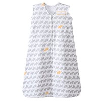Halo HALO SleepSack Wearable Blanket 100% Cotton Elephant Graphics, LG - Grey by Halo
