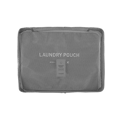 【MONOPOLY 公式】正規品 MONOPOLY CLOTHES POUCH VER.2 SIZE L gray クローズポーチVER.2サイズL 衣類ポーチ ランドリーポーチ付 (グレー)