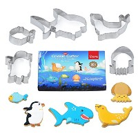 Not Only Cookie Cutters ~ Interact and Learn知識~南極Rcosystem Sea Animals – 多目的食品グレードステンレススチールMarine...