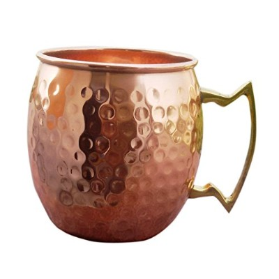 Rastogi Handicrafts Mug 100% Pure Copper Hammered Best Quality Lacquered Finish (1) [並行輸入品]