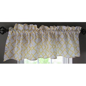 "Open Trellis Patterned Window Valance – 16 "" x 60 "" – 100 %コットン 16"" x 60"" CC_OTV"