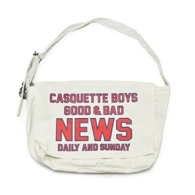 "5 WHISTLE ""CASQUETTE BOYS"" NEWS BAG ファイブホイッスル ニュースペーパー バッグ【NORTH NO NAME/ノースノーネーム】"
