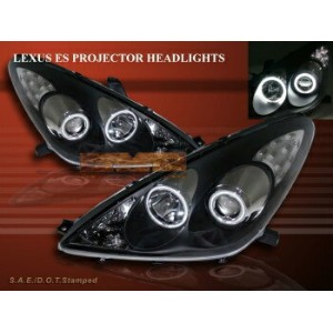 レクサス ヘッドライト 2002-2003 LEXUS ES300 / 04-06 ES330 PROJECTOR HEADLIGHTS CCFL TWIN HALO BLACK 2002...