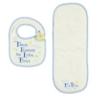 Thank Heaven Baby Bib & Burp Cloth, Blue by Luvable Friends