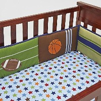 NoJo 4-Piece Secure-Me Crib Bumper - High-Five Sport by Crown Crafts Infant Products Inc