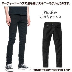 Nudie Jeans ヌーディージーンズ TIGHT TERRY タイトテリー DEEP BLACK L30【アフターセール】