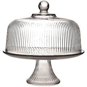 Anchor Hocking Monaco Cake Set with Ribbed Dome by Anchor Hocking