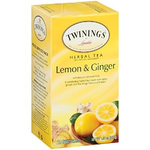 Twinings Herbal Tea, Lemon and Ginger, 25 Count Bagged Tea (6 Pack) by Twinings