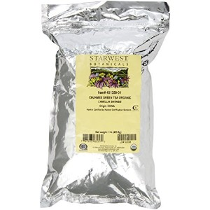 Starwest Botanicals, Chunmee Green Tea Whole, Organic, 1 lb