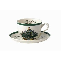 SpodeクリスマスツリーTea Cup and Saucer