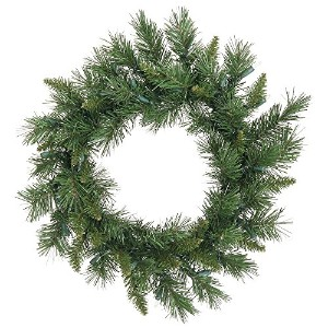 """Vickerman pre-lit Imperial Pine Wreath with 35クリアdura-litライト 24"""" A877324"""