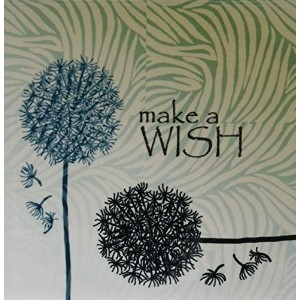 """PS Inspirations–Inspired Teal Make a Wishタンポポ花–タイル 4"""" ct_63555_1"""
