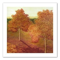 (60cm by 60cm) - Art Wall Amber Solace by Herb Dickinson Unwrapped Canvas Artwork, 60cm by 60cm