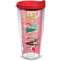 Tervis HOLIDAY Believe 24オンスタンブラーラップで蓋