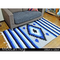 RUG&PIECE Native Mexican Rug ネイティブ柄 メキシカンラグ 200cm×120cm (rug-5838)