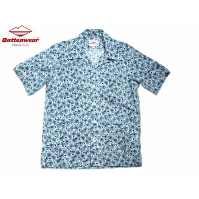 【期間限定30%OFF!】BATTEN WEAR(バテンウェア)FIVE POCKET ISLAND SHIRTS/blue daisy【アウトレット】