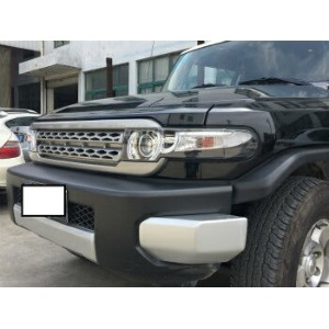 トヨタ FJクルーザー ヘッドライト Headlight For 2007-2015 Toyota FJ Cruiser LED Halo Dual Beam Projector grills...
