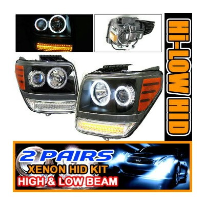 Dodge Nitro ヘッドライト 2 Set HID 07 + Dodge Nitro CCFL Halo Projector Headlights 2セットは07 +ダッジ・ナイトロCCFLヘイ...