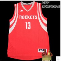 2015 New Swingman Rockets James Harden 13 basketball jersey dress red