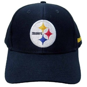 NFL Pittsburgh Steelers基本的なロゴベルクロ留め野球帽子、チームプライマリ色