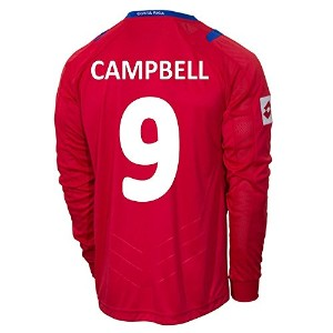 Lotto CAMPBELL #9 Costa Rica Home Jersey World Cup 2014 (Long Sleeve)/サッカーユニフォーム コスタリカ ホーム用 長袖...