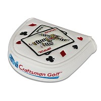 Craftsman Golf Joker PlayingカードMalletパターカバーヘッドカバーfor Scotty Cameron Odyssey
